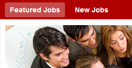 Homepage with New Jobs and Featured Jobs