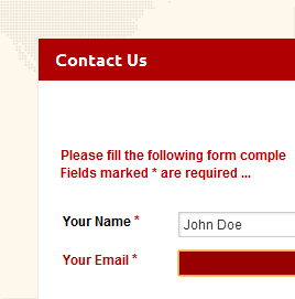 Enhanced Form Validation
